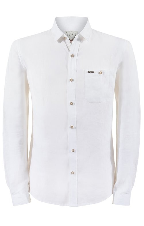 Traditional shirt Vincent in white