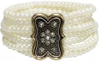 Tradycyjna perłowa bransoletka Lorelei kremowo-biała