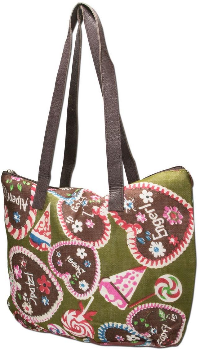 Trachten-Shopper Trachtentasche Sweet Temptation grün