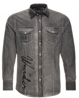 Trachtenhemd Veit grau