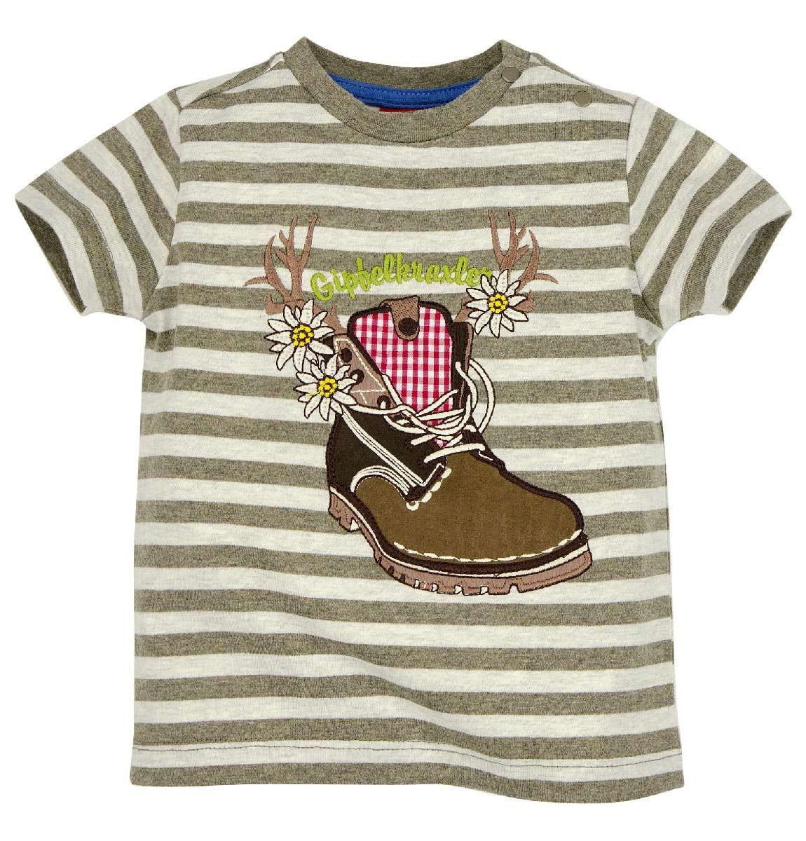 Gestreept T-shirt 'Wanderstiefel'