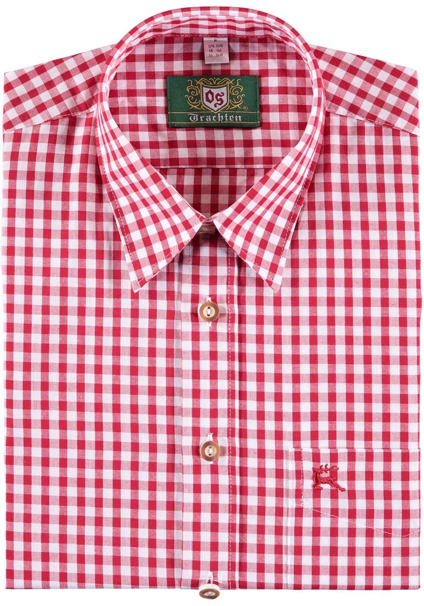 Trachtenhemd Rodrigo rot