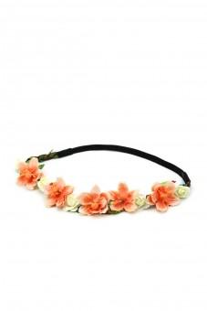 Haarband mit orangen Frühlingsblüten