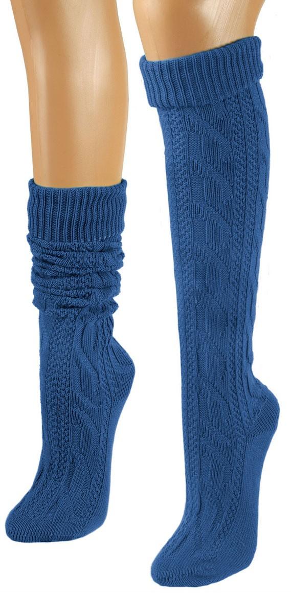 Beierse sokken koningsblauwen knielengte