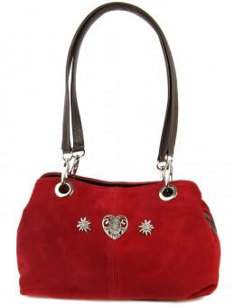 Handtasche Wildleder rot
