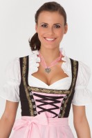Black 3-piece dirndl with floral beige pattern
