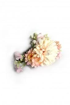 Blüten Haarkamm Heiderose