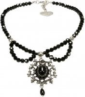 Perlen-Trachtenkette Aune schwarz