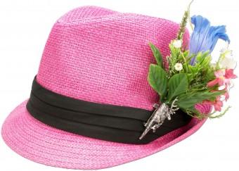 Trachtenhut Strohhut rosa