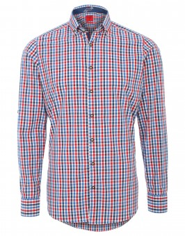 Trachten Shirt Olymp, red-white checked