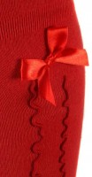 Preview: Ladies Stockings with Ruffle & Bow, Red