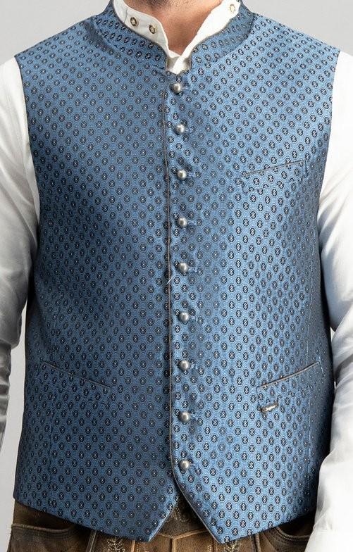 Trachten vest Pino in blauw