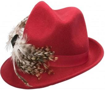 Trachtenhut Filzhut rot