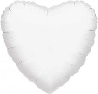 Herzballon Weiß 46cm