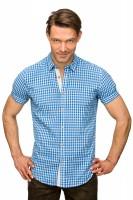 Vorschau: Kurzarmhemd Connor blau