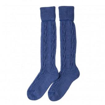 Kinderstrumpf mit Kniebund in Blau