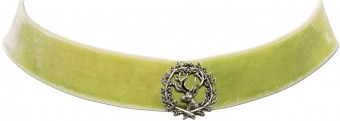 Trachten Choker with Deer Pin, Light Green