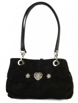 Handtasche Wildleder schwarz