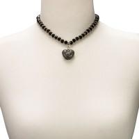 Vorschau: Perlenkette Mathilda schwarz