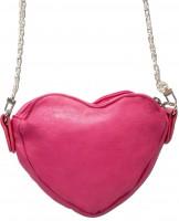 Vorschau: Trachten Herztasche Kunstleder pink