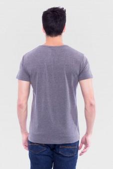 T-Shirt Wilder Hirsch grau