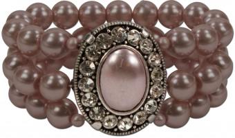 Perlenarmband Madeleine taupe