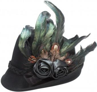 Filcowa czapka Rosalie czarna