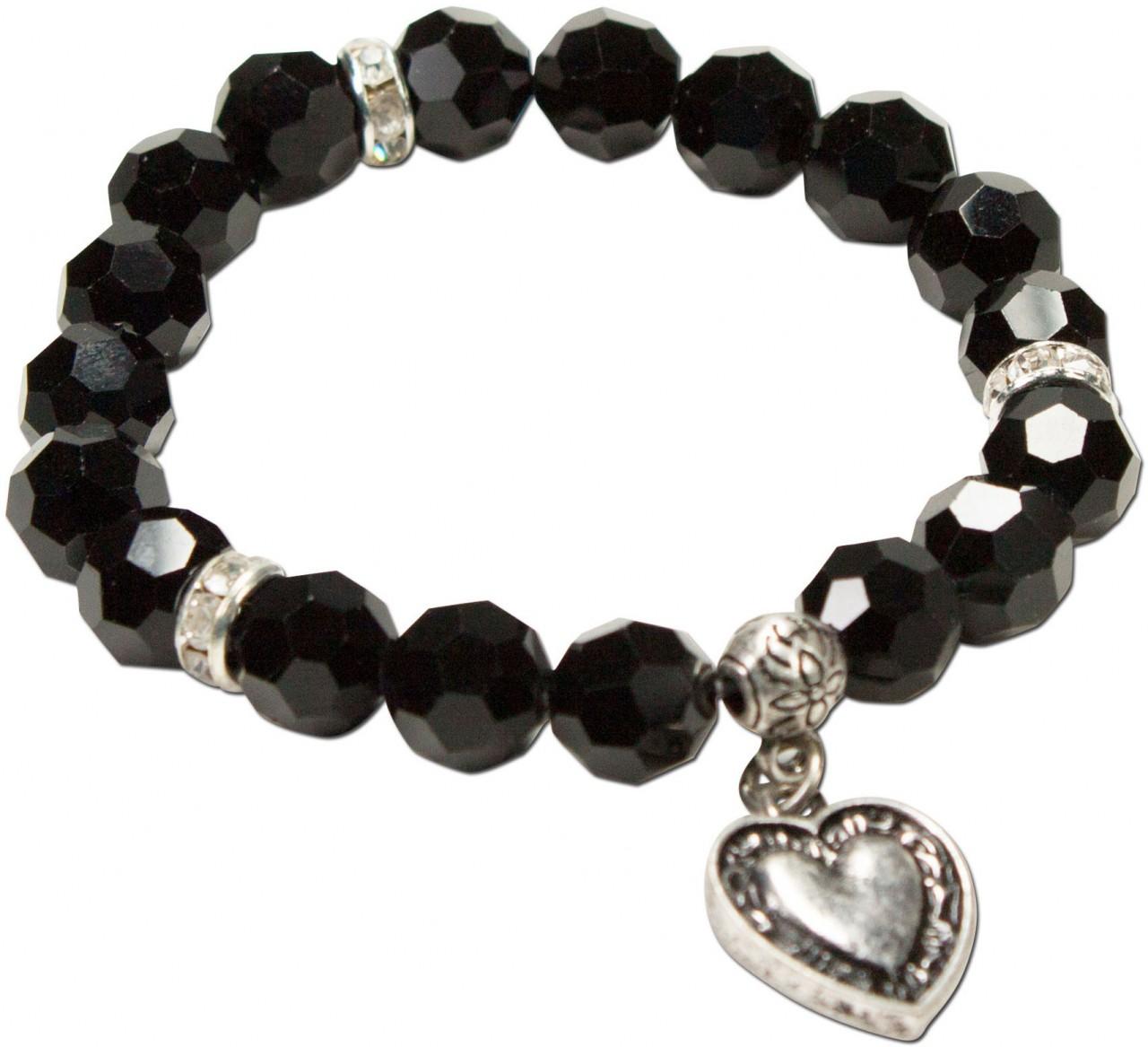 Bracelet de Trachten en perles Tina noir