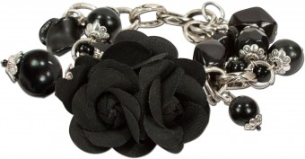 Floral Wrist Corsage Rosi, Black