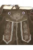 Kinderlederhose Maxi dunkelbraun