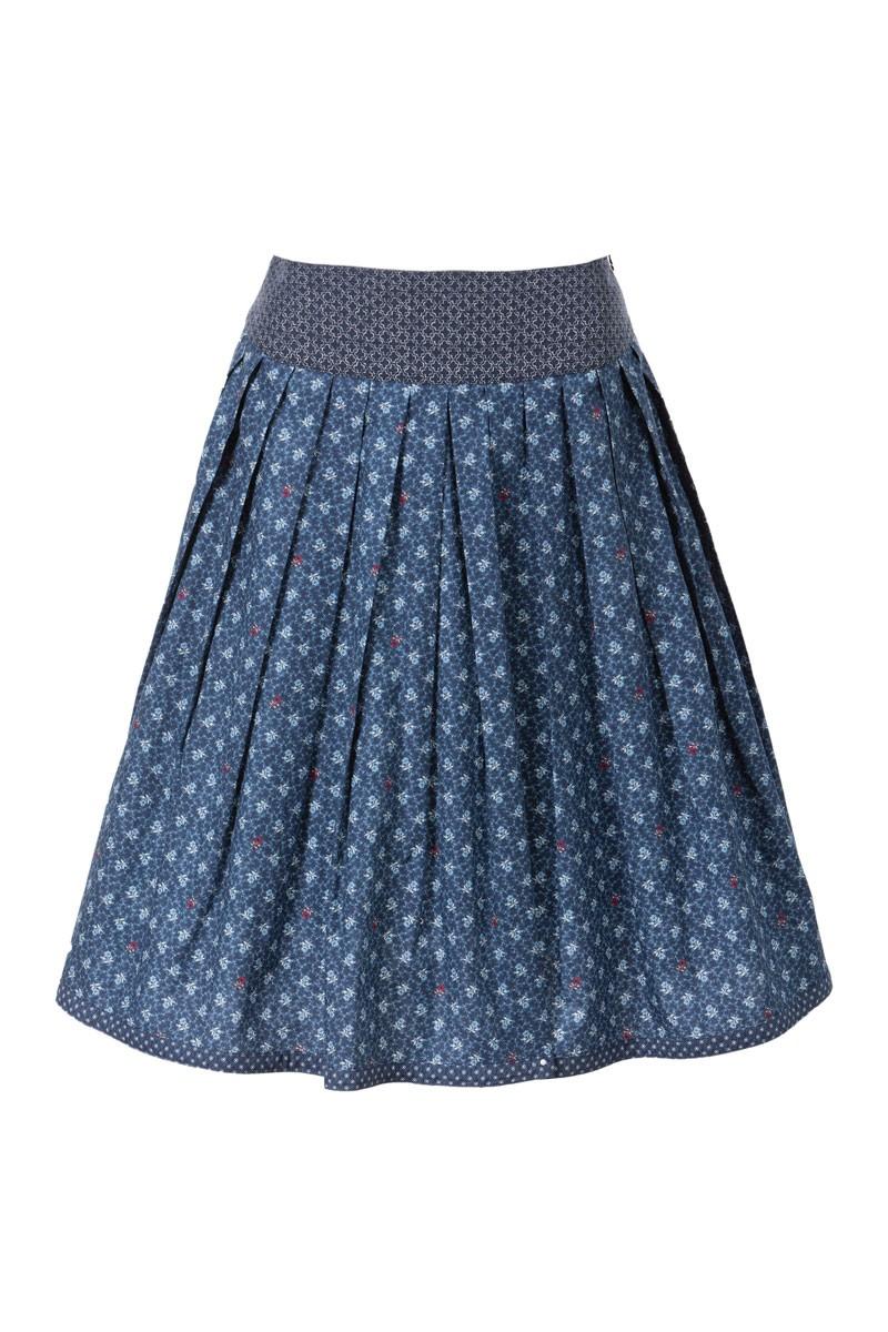 Traditionele rok Hella blauw