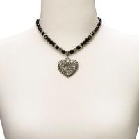 Vorschau: Perlenhalskette Alisa schwarz