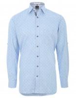 Trachtenhemd Olymp blau/weiß kariert