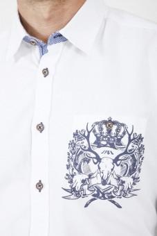 Trachtenhemd Cosmo blau