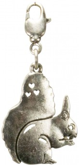 Trachten Squirrel Pendant, Antique Silver