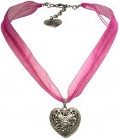 Vorschau: Organza Trachtenkette Viktoria pink