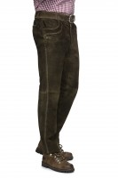 Vorschau: Lederhose Rocco dunkelbraun