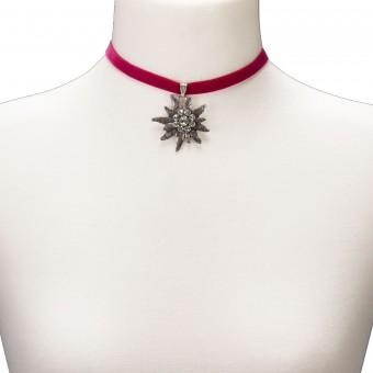 Samtkropfband Helene pink