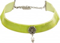 Vorschau: Trachten Kropfband mit Ornament hellgrün
