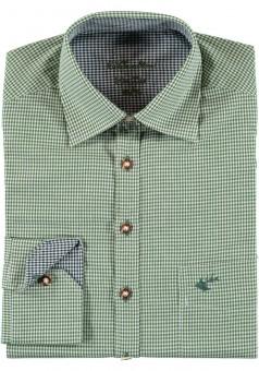 Herrenhemd Wiggerl dunkelgrün-blau