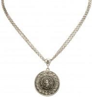 Vorschau: Halskette Glitzerhirsch altsilber