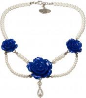 Vorschau: Perlenkette Karina blau