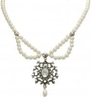 Vorschau: Perlen-Trachtenkette Aune cremeweiß