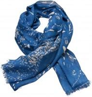 Vorschau: Trachtenschal Schneespuren blau
