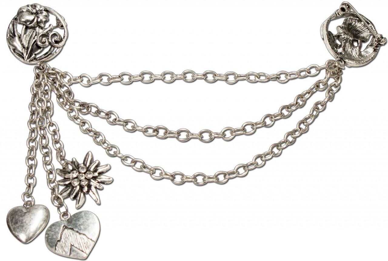 Brooches Charivari Emilie antique silver