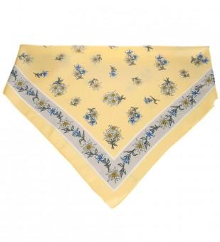 Tuch Edelweiß gelb-grau
