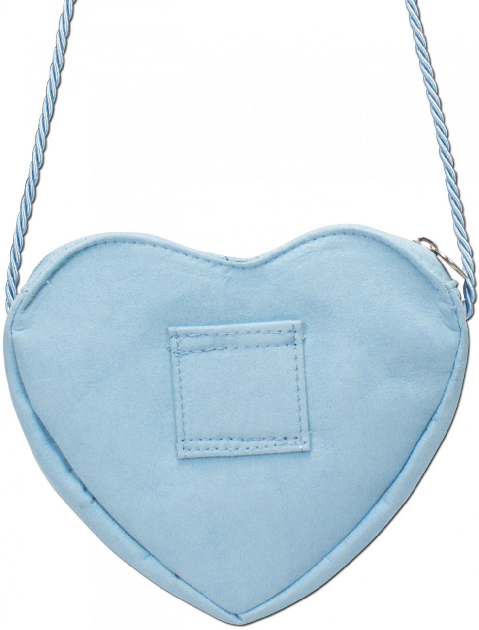 Dirndl-Herztasche Edelweiß hellblau