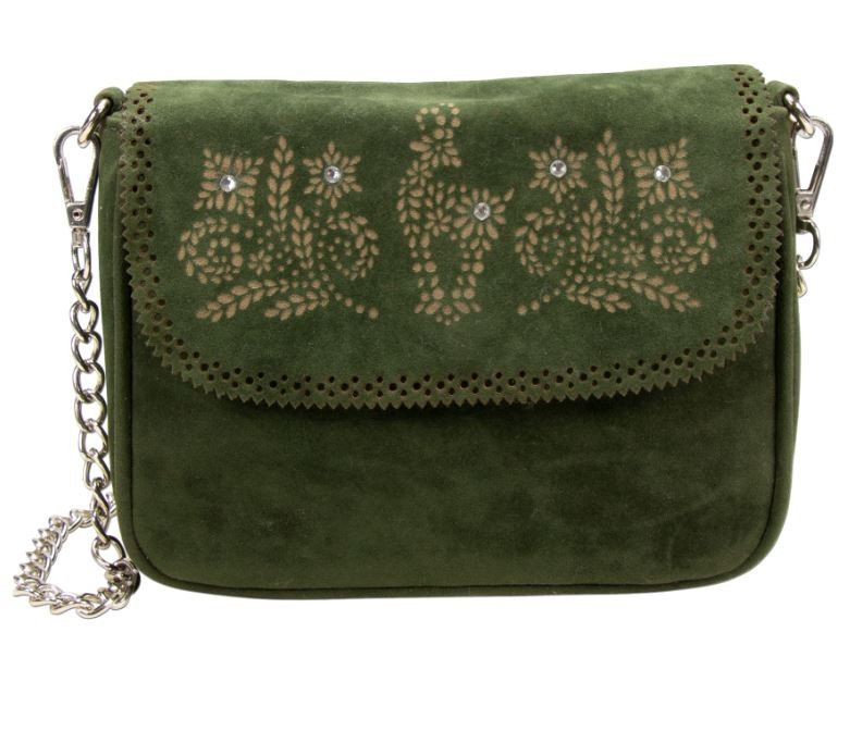 Trachtentasche mit Verzierung grün