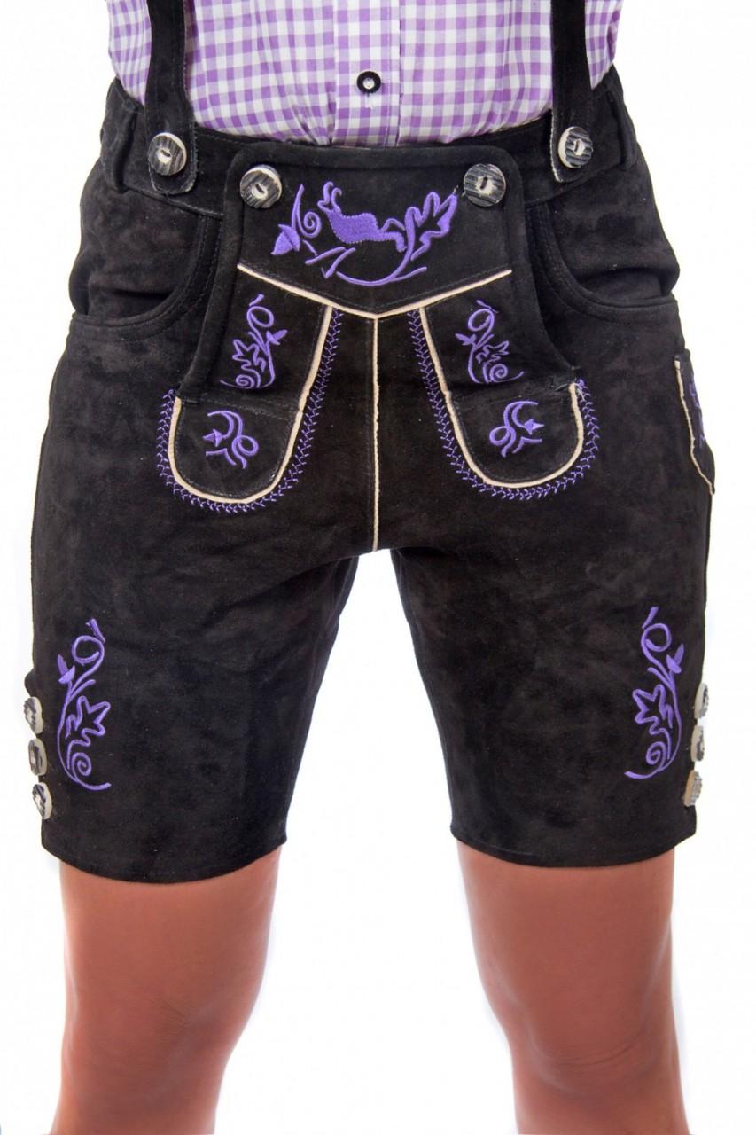 Skórzane spodnie Sophie czarne