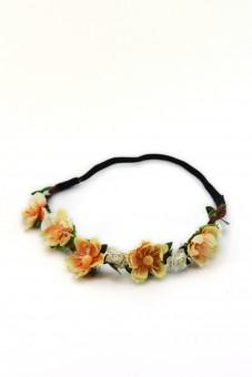 Haarband mit gelben Frühlingsblüten